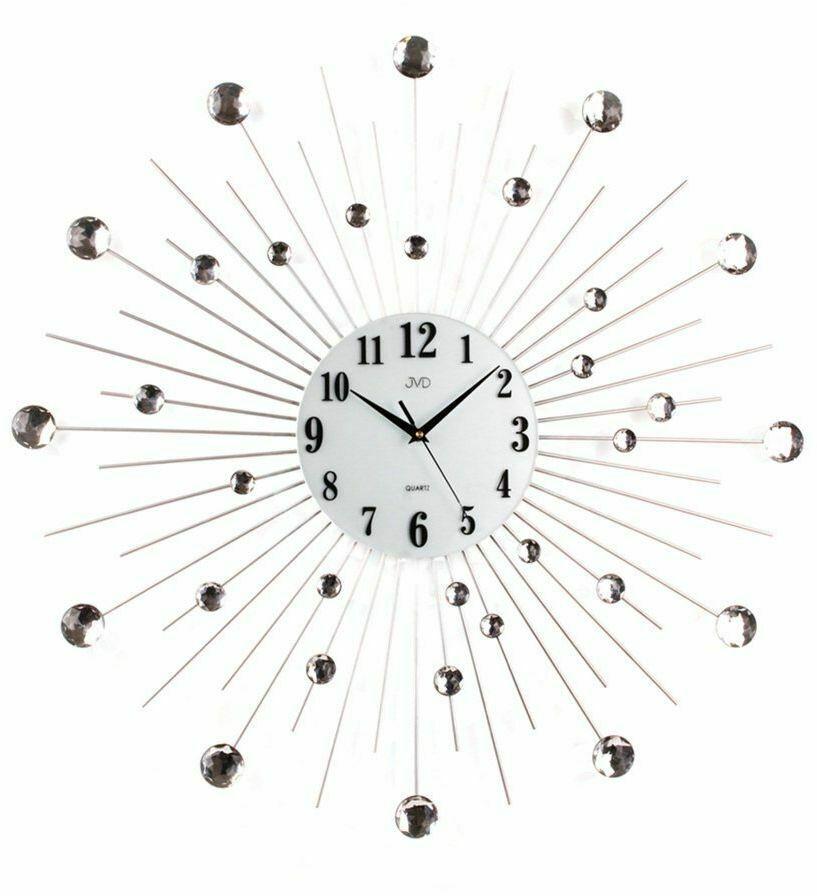 Zegar ścienny JVD HJ20 z kryształkami średnica 69 cm