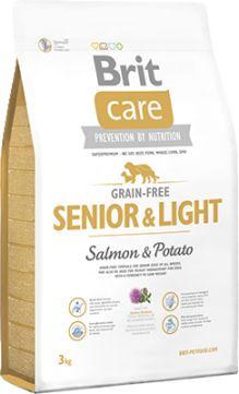 Brit Care Grain-Free Bezzbożowa Salmon & Potato Łosoś Senior & Light 3 kg