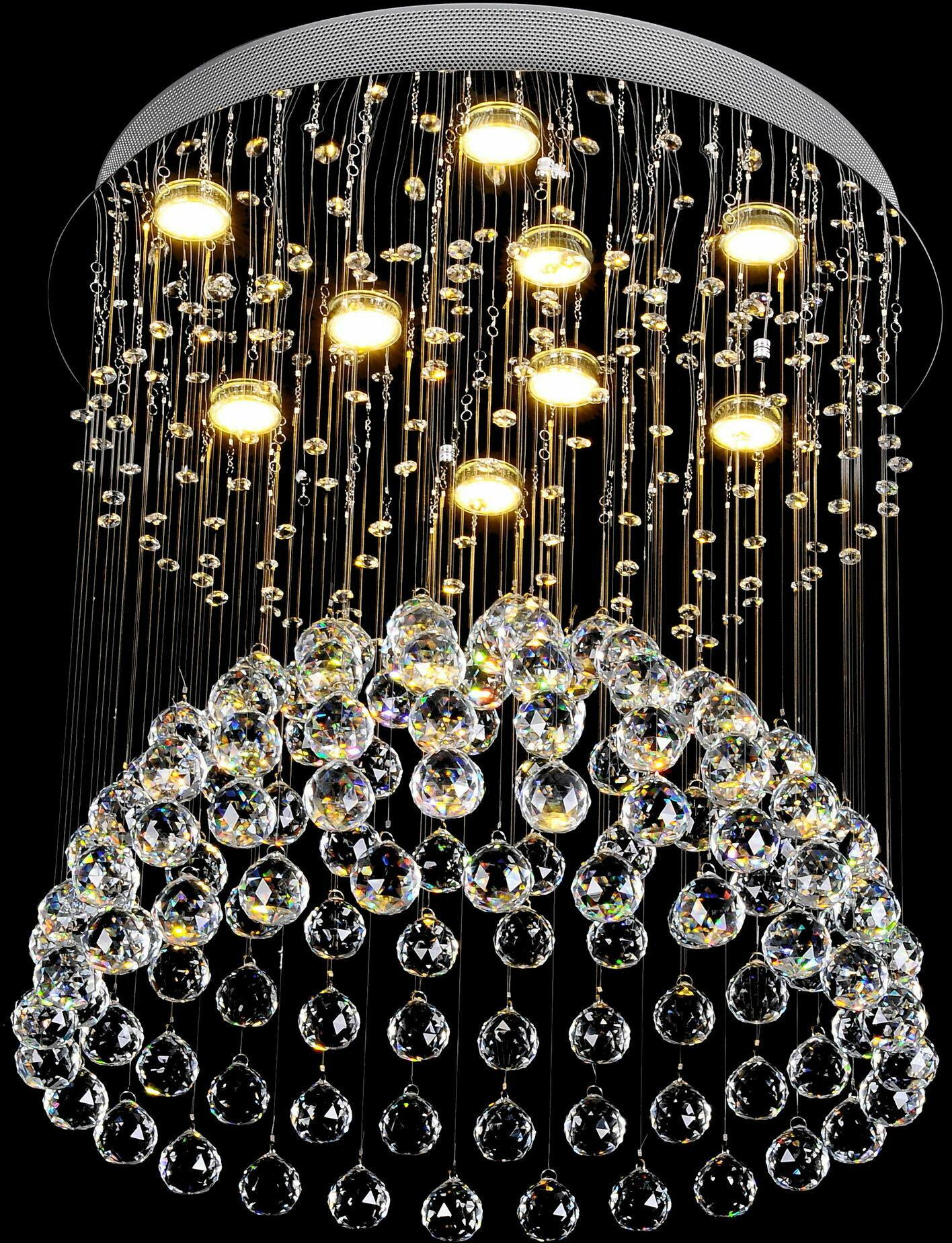 Żyrandol kryształowy 60x45cm 9xGU10 K307