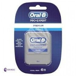 Oral B Pro-Expert Premium woskowana nić dentystyczna o smaku mięty Cool Mint 40 m