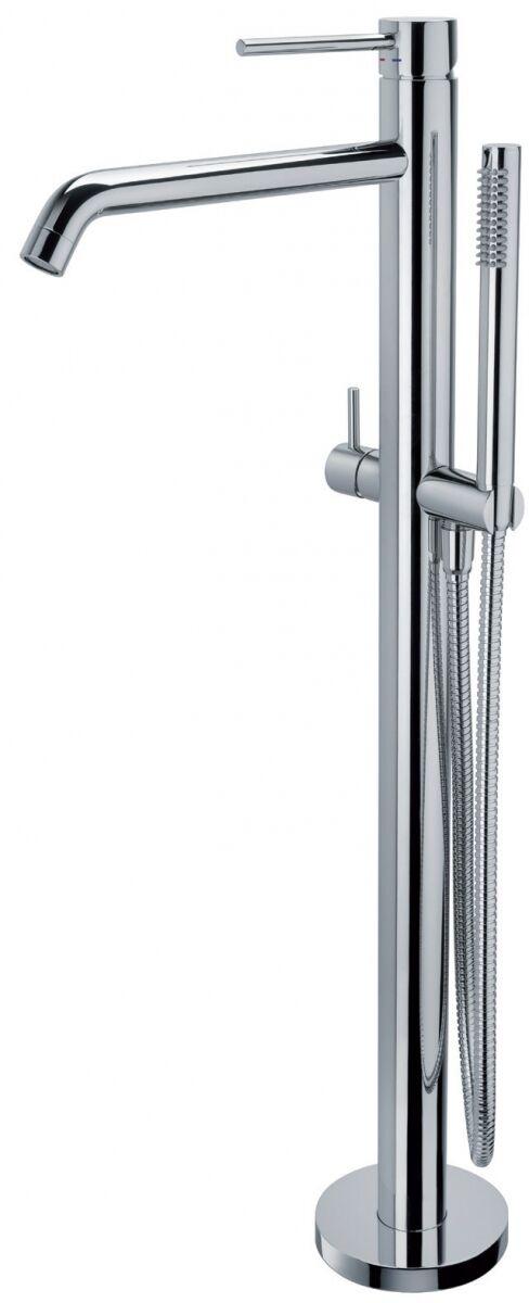 Paffoni Light bateria wannowa podłogowa 930 mm z zestawem prysznicowym chrom LIG032CR