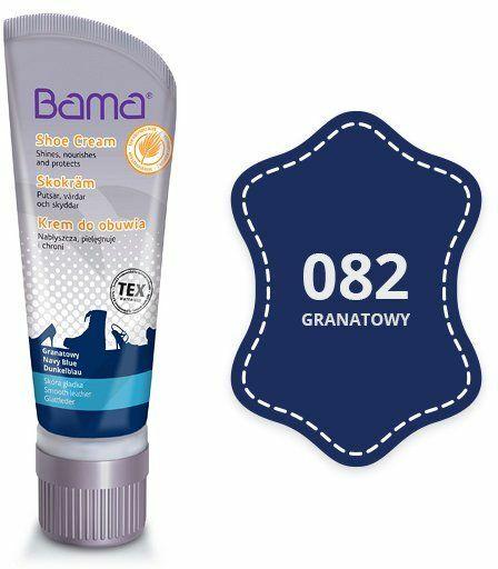 Krem do obuwia BAMA z woskiem Carnauba 082 Granatowy 75ml tubka - Granatowy