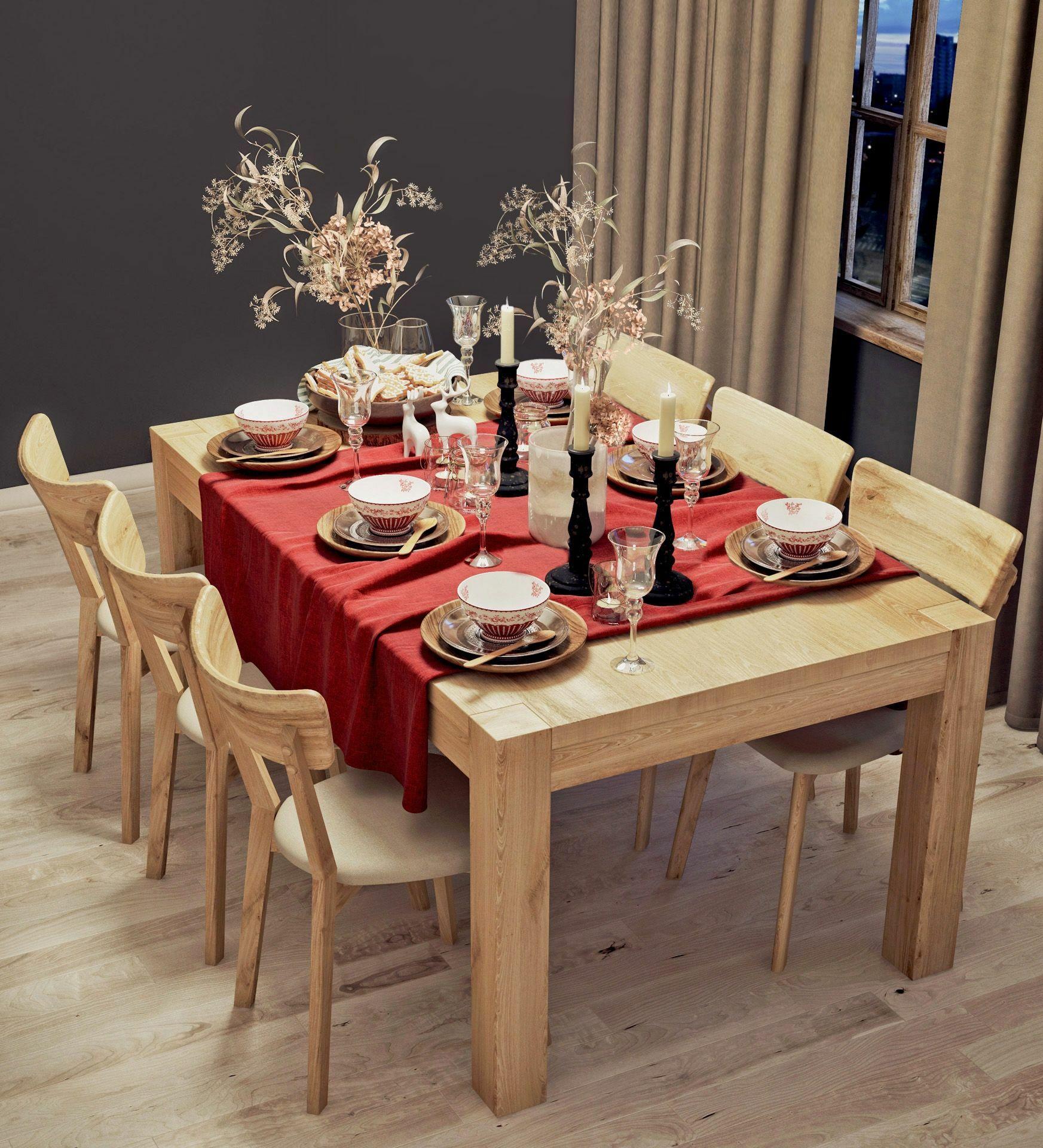 Stół dębowy Genewa 01 rozkładany