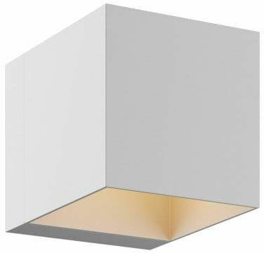 Light Prestige Alaska LP-104/1W WH kinkiet lampa ścienna kwadratowy biały aluminium 1x40W G9 10cm