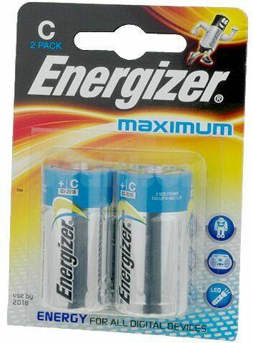 Bateria alkaliczna 1,5V Energizer Maximum R14 (C) 2 szt.