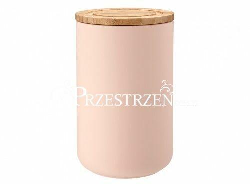 POJEMNIK CERAMICZNY DO KUCHNI z POKRYWKĄ Stak Soft Ladelle 17 cm Matt Pink - RÓŻOWY