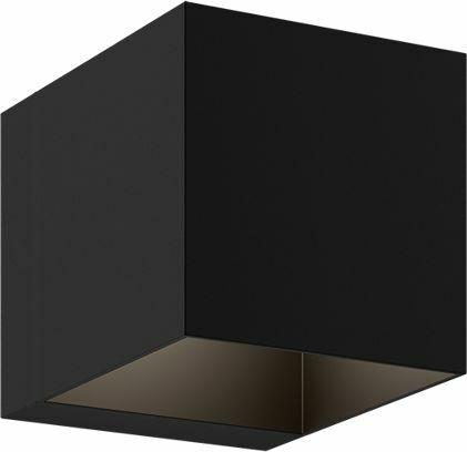 Light Prestige Alaska LP-104/1W BK kinkiet lampa ścienna kwadratowy czarny aluminium 1x40W G9 10cm