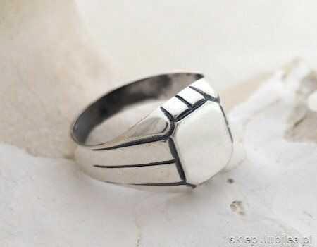Forever - srebrny męski sygnet unisex