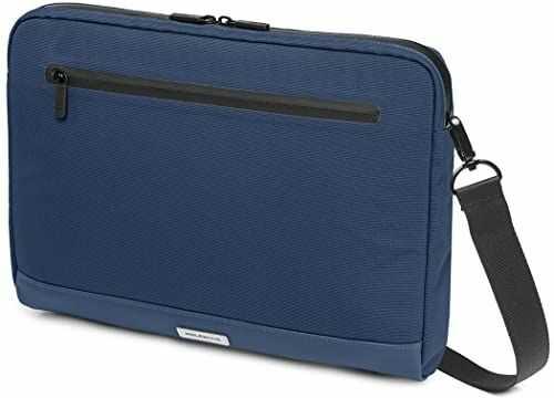 Moleskine - Metro pozioma torba na urządzenia, torba na komputer do laptopa, notebooka, iPada i tabletu do 33 cali, wodoodporna torba listonoszka, rozmiar 35 x 26 x 4 cm, szafirowy niebieski