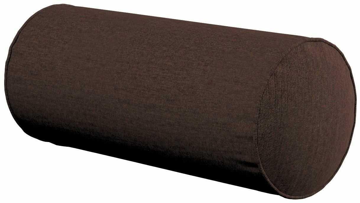 Poduszka wałek prosty, czekoladowy szenil, Ø16  40 cm, Chenille