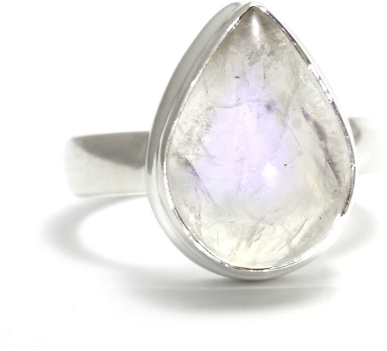 Kuźnia Srebra - Pierścionek srebrny, rozm. 20, Kamień Księżycowy, 7g, model