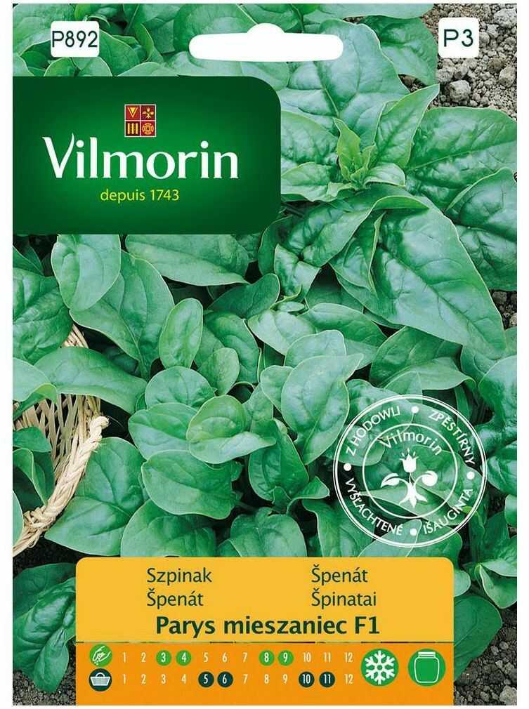 Szpinak PARYS MIESZANIEC F1 nasiona tradycyjne 5 g VILMORIN