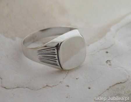 Elclasico - srebrny męski sygnet unisex