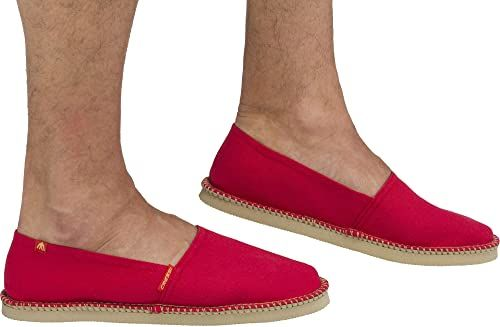 Cressi Unisex-Adult Valencia Espadrillas Wygodne i lekkie buty na każdy letni sport ,Czerwony ,38 ,XVB980438