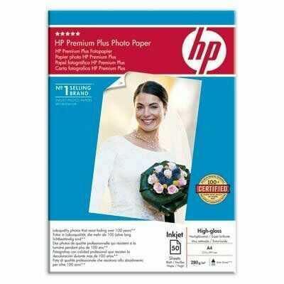 Papier A4, 280g, 50ark. - HP Premium Plus Photo Paper, wysoki połysk