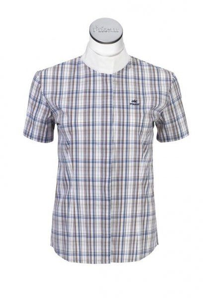 Koszula konkursowa damska - PIKEUR - marine/schoco/weiss