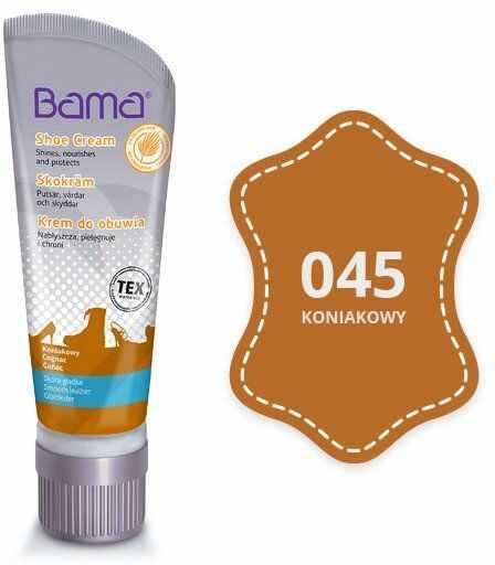 Krem do obuwia BAMA z woskiem Carnauba 045 Koniakowy 75ml tubka - Koniakowy