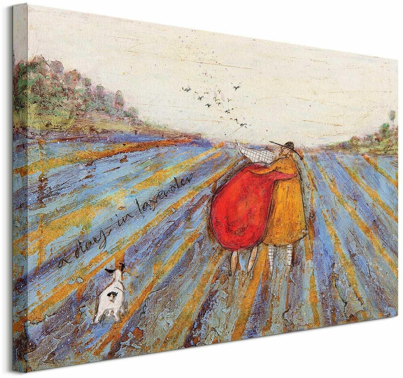 Sam toft a day in lavender - obraz na płótnie