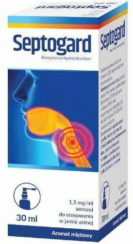 Septogard 1,5mg/ml aerozol do stosowania w jamie ustnej 30 ml