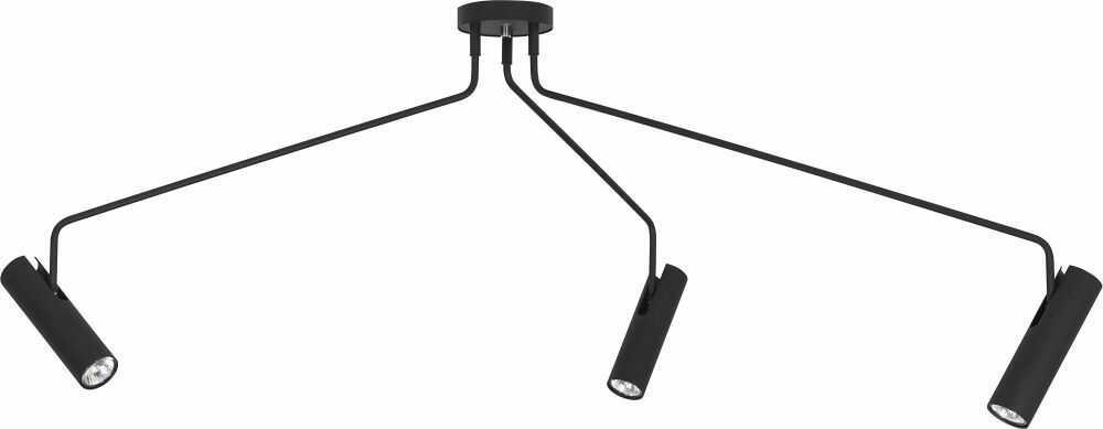 Plafon Eye Super 6504 Nowodvorski Lighting potrójna czarna oprawa sufitowa