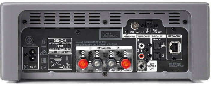 Amplituner stereo z CD RCDN-10, Kolor: Biały