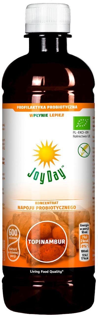 Koncentrat napoju probiotycznego topinambur bio 500 ml - joy day