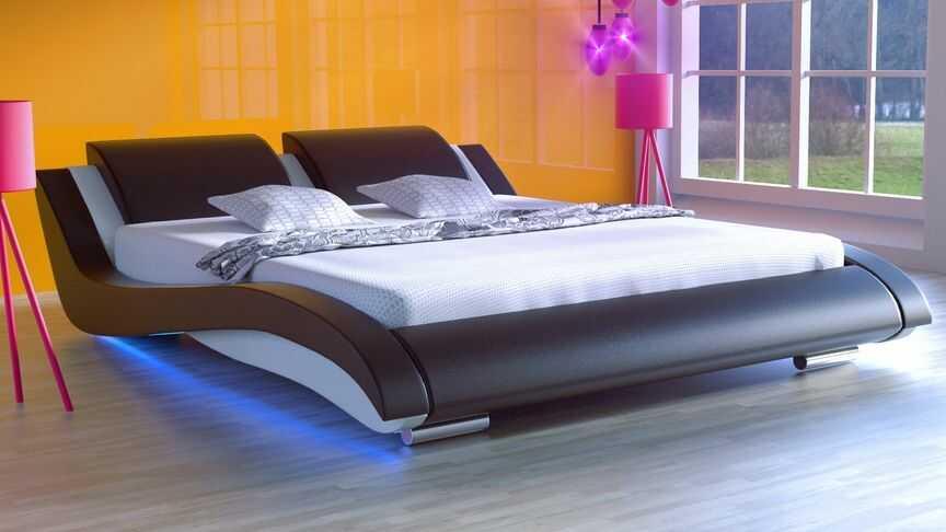Łóżko do sypialni Stilo-2 LED 160x200 cm RgB multikolor