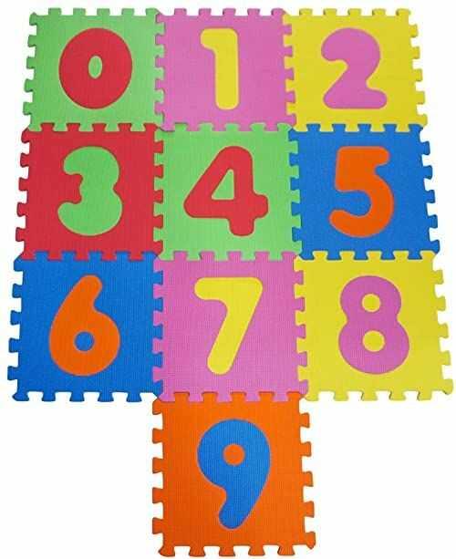 Knorrtoys 21001  mata puzzle, 10-częściowa, mata do zabawy, dywan do zabawy, mata piankowa, kolorowa