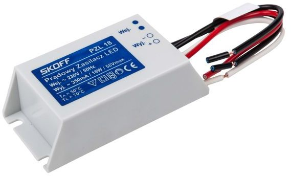 Zasilacz LED stałoprądowy PZL 18 350mA 020601010024