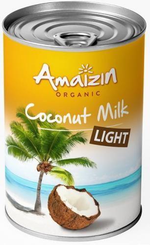 Coconut milk - napój kokosowy LIGHT w puszce (9% tłuszczu) BIO 400 ml Amaizin
