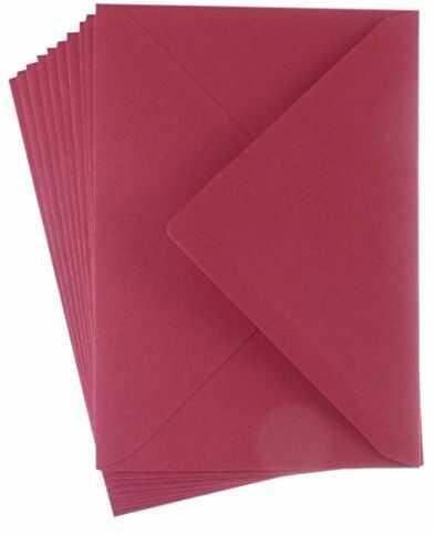 Kartka kopertowa, Boże Narodzenie czerwona, A6, opakowanie 10 szt.