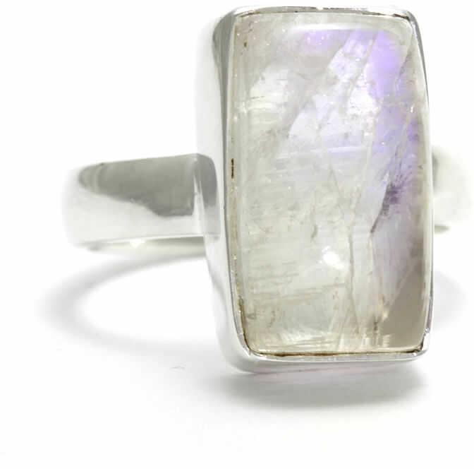 Kuźnia Srebra - Pierścionek srebrny, rozm. 17, Kamień Księżycowy, 8g, model