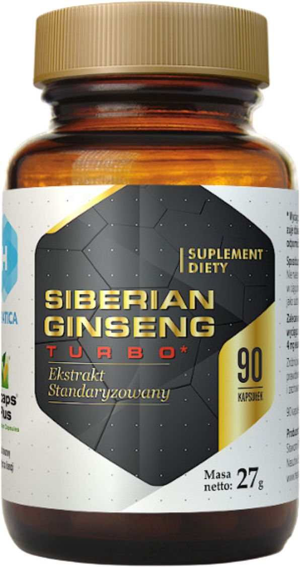 Siberian Ginseng Turbo Żeń-Szeń Syberyjski Ekstrakt 200 mg (90 kaps) Hepatica