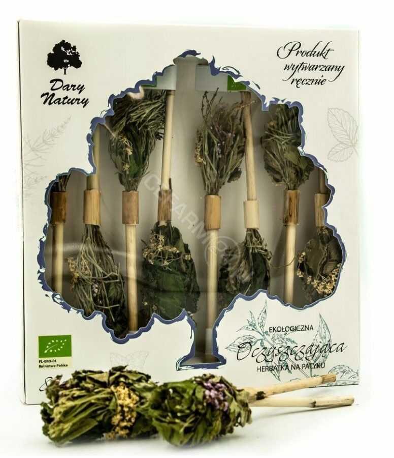 Dary Natury herbatka na patyku Oczyszczająca eko 8 sztuk