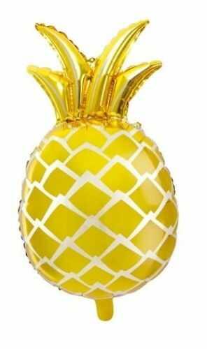 Balon foliowy Ananas, złoty