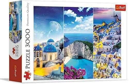 Trefl Greckie Wakacje Puzzle 3000 Elementów o Wysokiej Jakości Nadruku dla Dorosłych i Dzieci od 15 lat