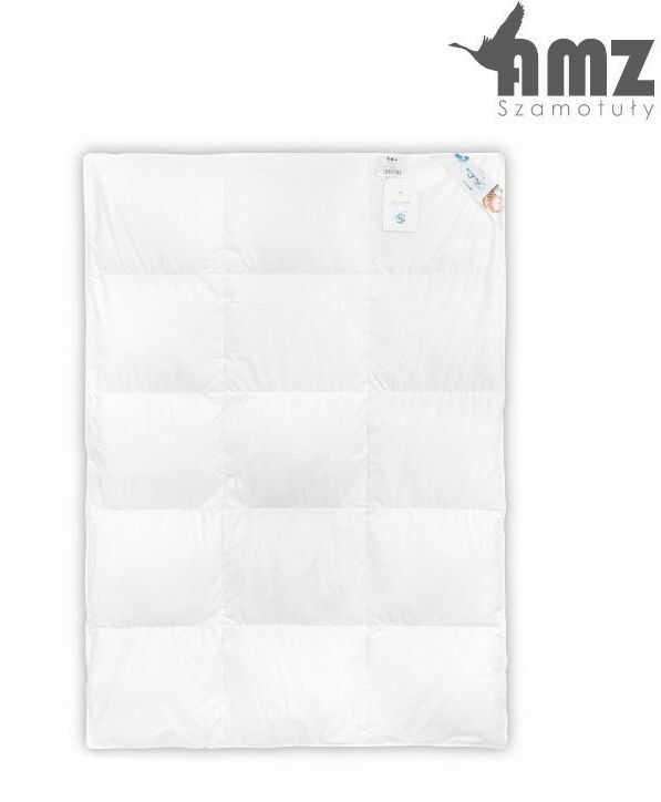 Poduszka i kołdra puchowa dziecięca AMZ Premium, Kolor - biały, Rozmiar - 90x120 + 40x60 NAJLEPSZA CENA, DARMOWA DOSTAWA