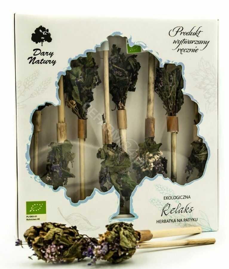 Dary Natury herbatka na patyku Relaks eko 8 sztuk