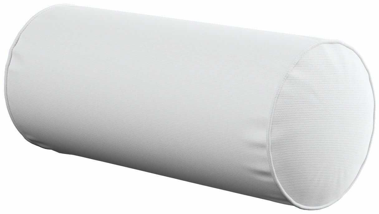 Poduszka wałek prosty, śmietankowa biel, Ø16  40 cm, Loneta