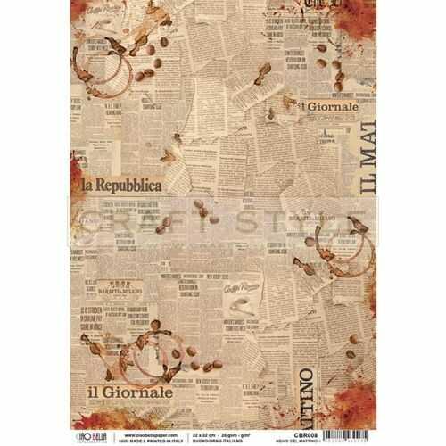 CBR008 Buongiorno Italiano Collection - papier ryżowy A4