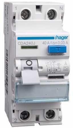 Wyłącznik różnicowoprądowy 2P 40A 0,03A typ A CDA240J