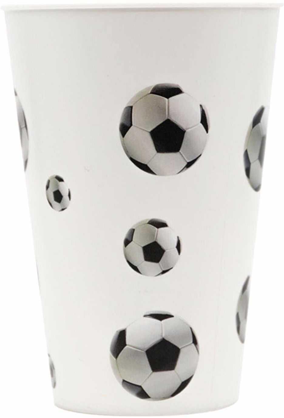 Procos 91386 - kubek, impreza w piłce nożnej, 400 ml, wielokrotnego użytku, piłka nożna, kubek do picia, urodziny, impreza tematyczna