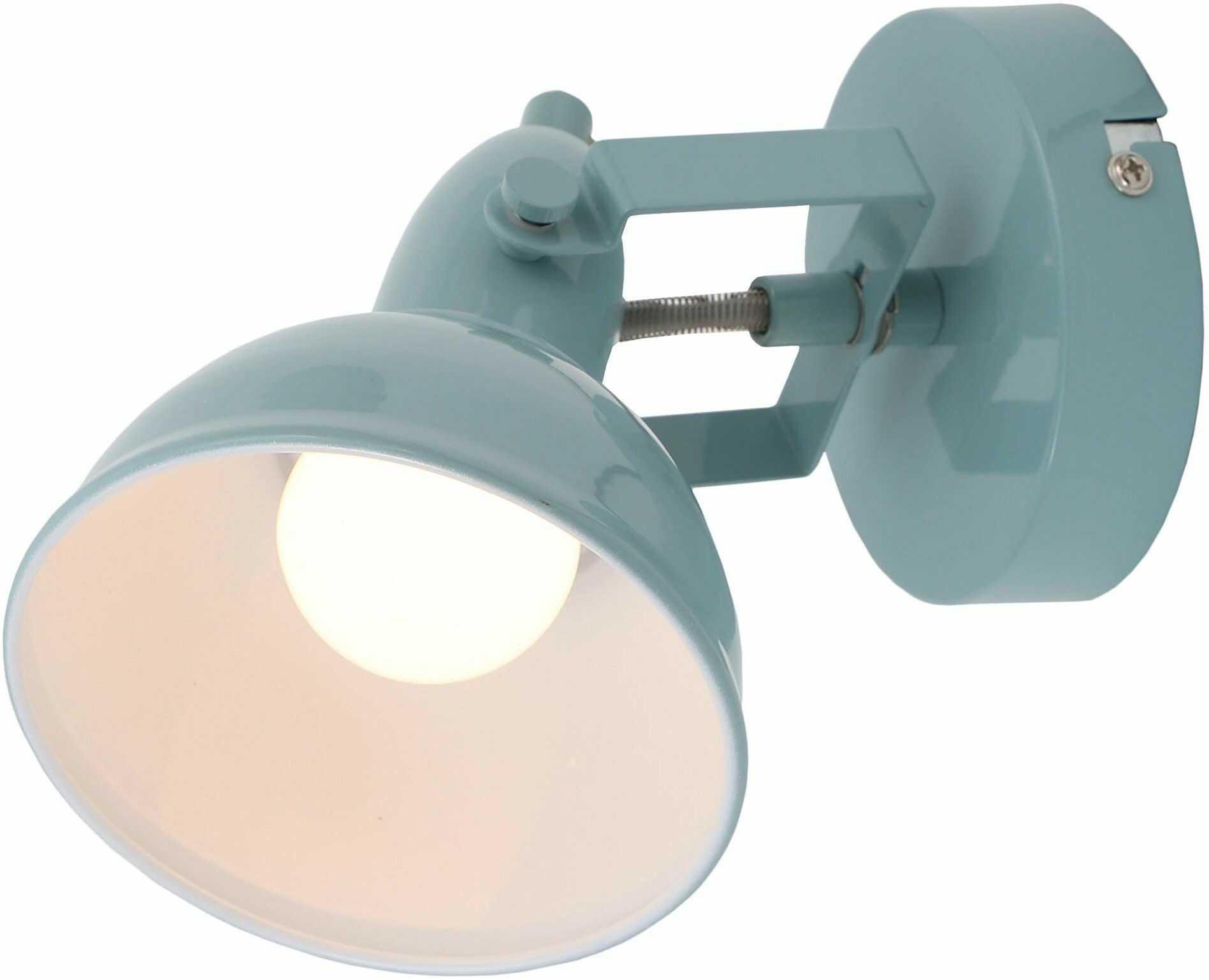 Briloner Leuchten  lampa ścienna, reflektor ścienny z obrotowym i obrotowym punktem w stylu retro/vintage, oprawka: E14, maks. 40 W, metal, wymiary: 15,6 x 10 cm, kolor: miętowo-biały