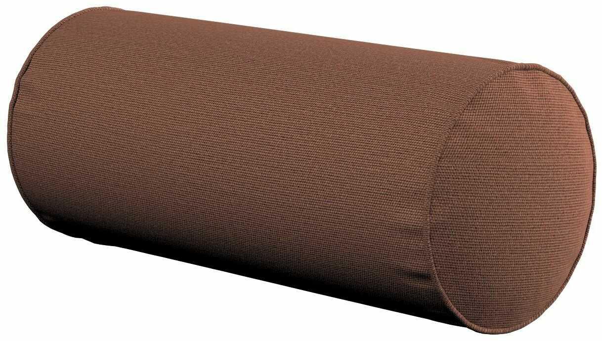 Poduszka wałek prosty, brązowy, Ø16  40 cm, Loneta