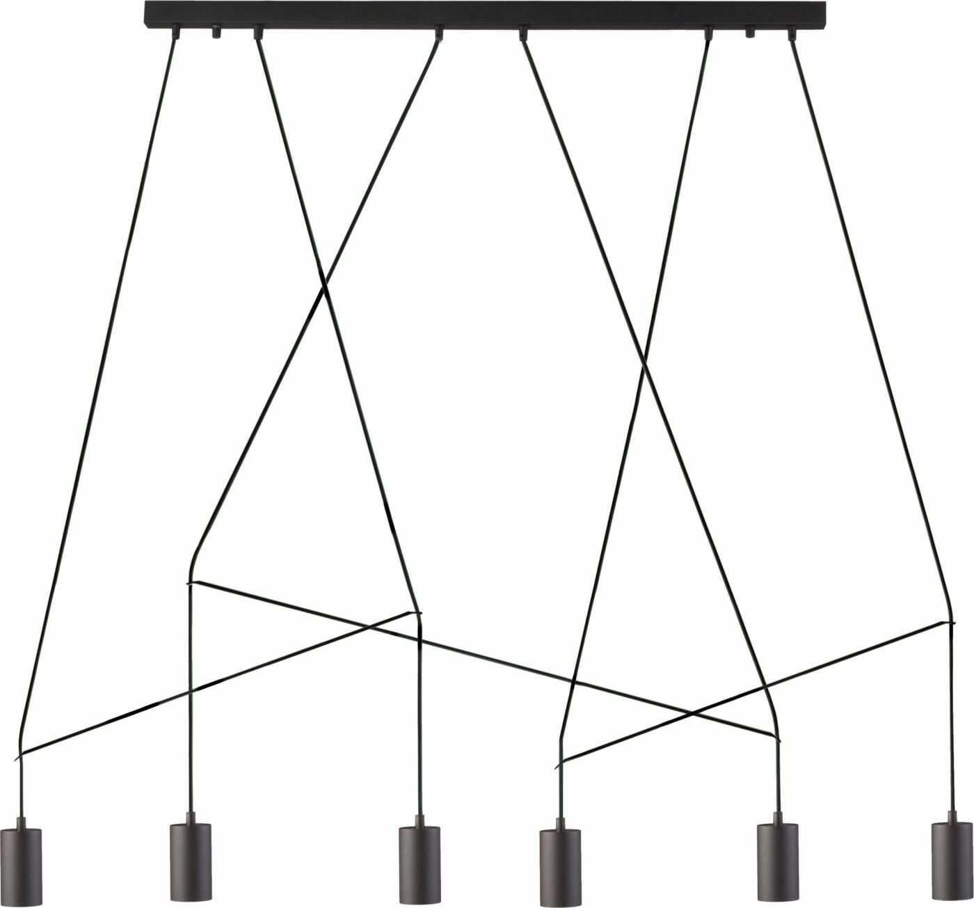 Lampa sufitowa Imbria 9675 Nowodvorski Lighting czarna geometryczna oprawa w nowoczesnym stylu