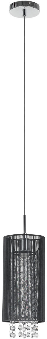 Lampa wisząca abażurowa czarna Lana MDM1787/1 BK Italux