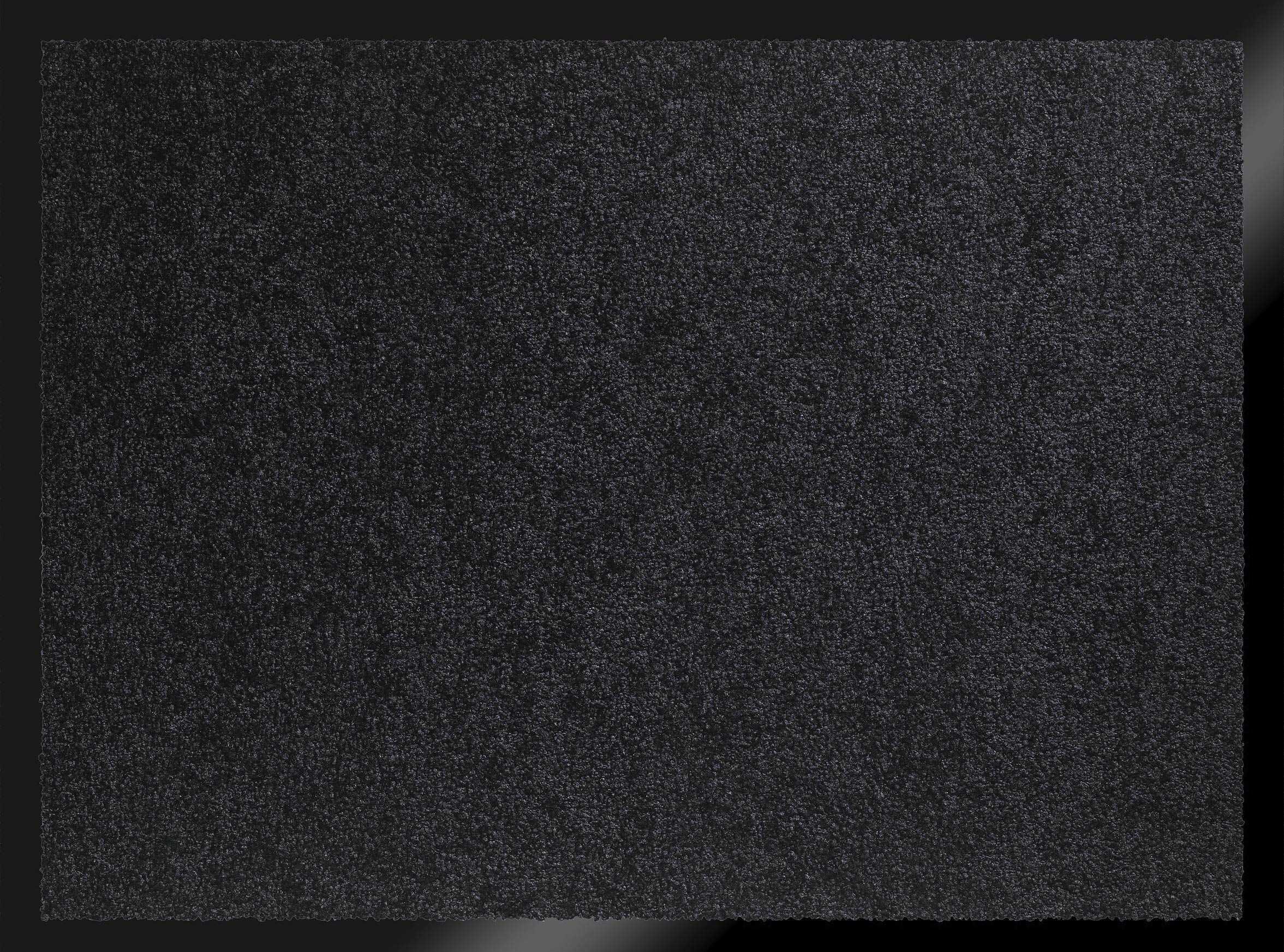 ID mat t 608005 Mirande dywan wycieraczka włókno nylon/PCW gumowany 80 x 60 x 0,9 cm, czarny, 60 x 80 cm