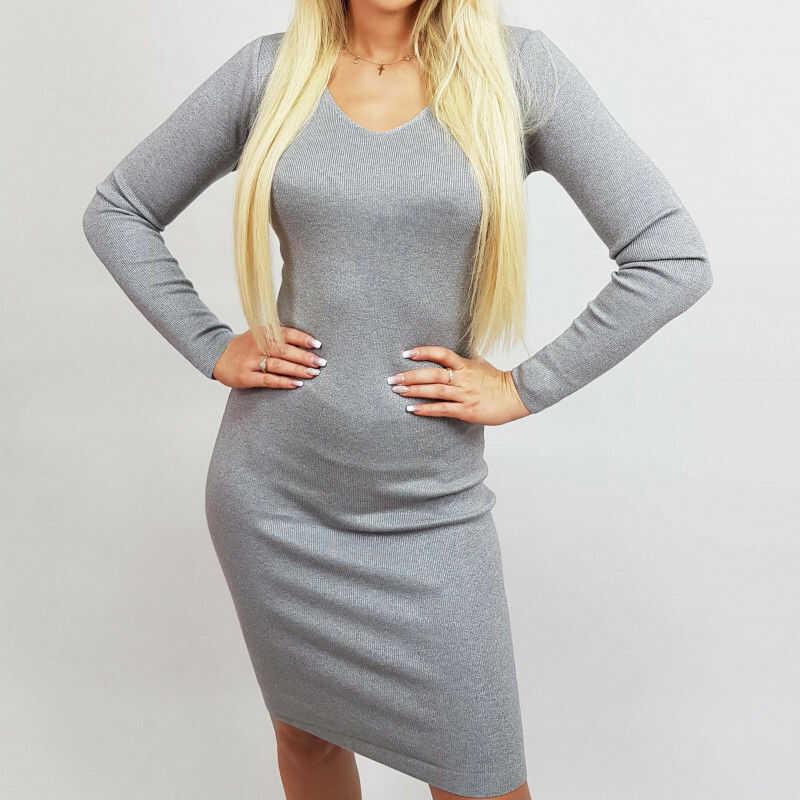 Sukienka sweterkowa elegancka ALISON BS001053