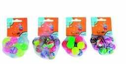 Simba 107358168  10 piłek do skakania w siatce, 3 różne kolory