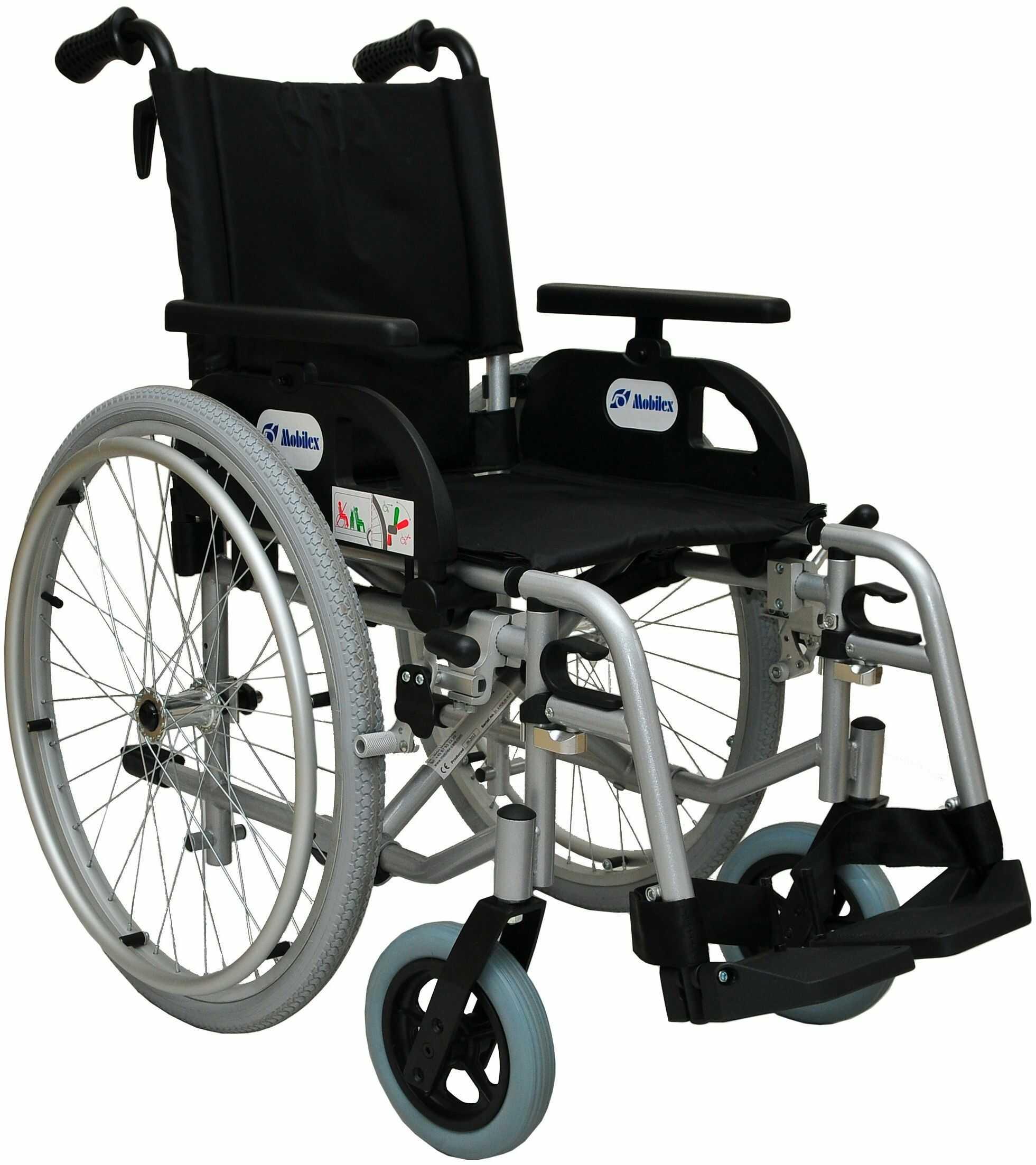 Wózek inwalidzki ręczny stalowy Marlin